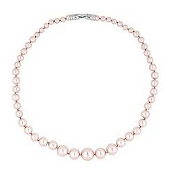 Jon Richard - Graduated pink pearl necklaces