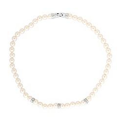 Jon Richard - Cream pearl & crystal necklace