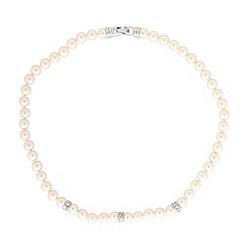 Jon Richard - Cream pearl & crystal necklace