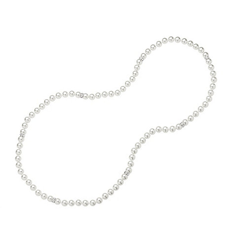 Jon Richard - White pearl necklace with crystal rhondels