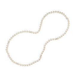 Jon Richard - Cream pearl necklaces with crystal rhondels