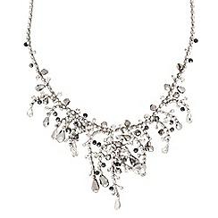 Jon Richard - Diamante crystal multi twist bead drop necklaces - online exclusive