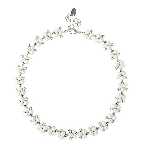 Alan Hannah Devoted - Triple pearl and crystal link necklace