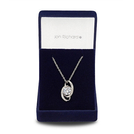 Jon Richard - Cubic zirconia swirl pendant necklace