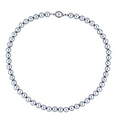 Jon Richard - Grey pearl oval clasp necklace
