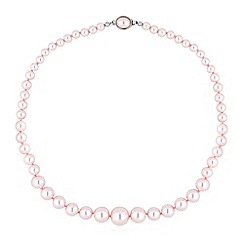 Jon Richard - Graduating pink pearl oval clasp necklace