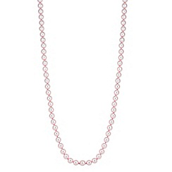 Jon Richard - Long pink pearl chain necklace
