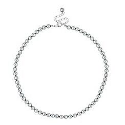 Jon Richard - Mini grey pearl round chain necklace