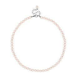 Jon Richard - Mini pink pearl round chain necklace