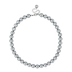 Jon Richard - Grey pearl round chain necklace