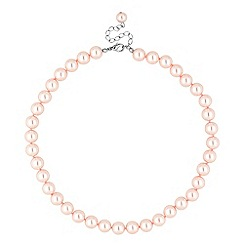 Jon Richard - Pink pearl round chain necklace