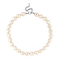 Jon Richard - Large cream baroque pearl necklace