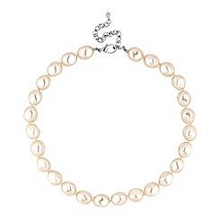 Jon Richard - Large cream baroque pearl necklace
