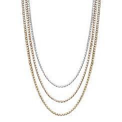 Jon Richard - Diamante crystal triple row tonal necklace
