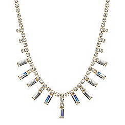 Jon Richard - Online exclusive baguette stone drop necklace