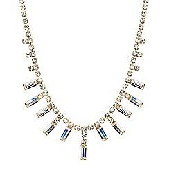 Jon Richard - Online exclusive baguette stone drop necklace