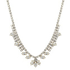 Jon Richard - Online exclusive diamante and navette stone necklace