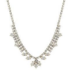 Jon Richard - Online exclusive diamante and navette stone necklace