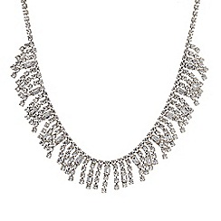 Jon Richard - Statement diamante crystal and baguette shower necklace