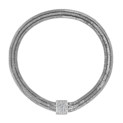 Online Exclusive Square And Triple Mesh Chain Necklace