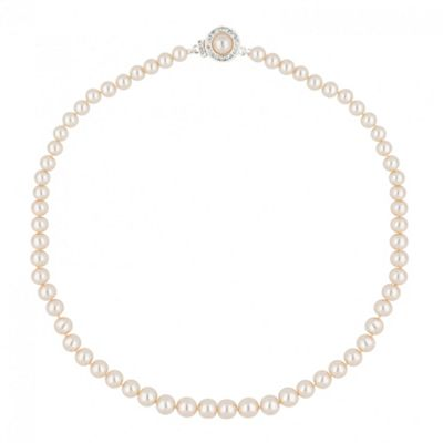 Alan Hannah Devoted Designer cream pearl and crystal clasp necklace - . -
