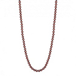 Jon Richard - Long chocolate pearl chain necklace
