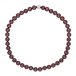 Jon Richard - Chocolate pearl magnetic necklace