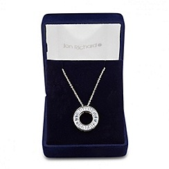 Jon Richard - Cubic zirconia baguette circle necklace