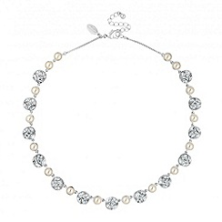Alan Hannah Devoted - Designer pearl and crystal flower round necklace