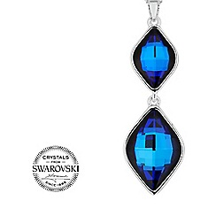 Jon Richard - Bermuda blue lemon fancy drop necklace made with SWAROVSKI ELEMENTS