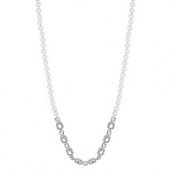 Alan Hannah Devoted - Designer long mixed crystal stone and pearl necklace