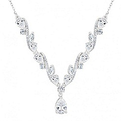 Jon Richard - Rose cubic zirconia necklace
