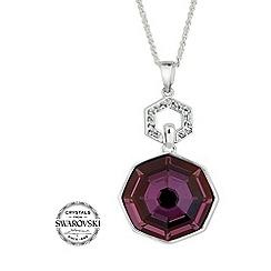 Jon Richard - Lilac shadow solaris pendant necklace made with SWAROVSKI ELEMENTS