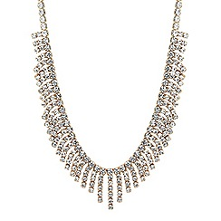 Jon Richard - Diamante crystal shower drop necklace