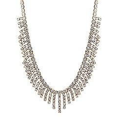 Jon Richard - Diamante crystal shower drop necklace