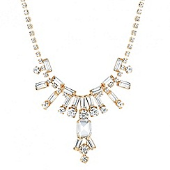 Jon Richard - Diamante crystal and baguette spike necklace