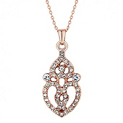 Jon Richard - Rose gold filigree pendant necklace