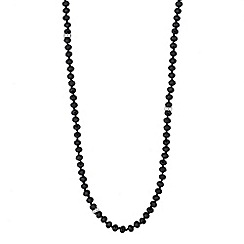 Jon Richard - Long jet facet bead and baguette link necklace