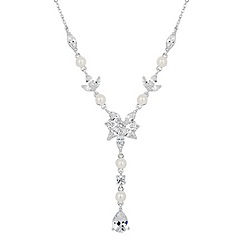 Alan Hannah Devoted - Designer jasmine cubic zirconia and pearl necklace