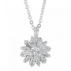 Alan Hannah Devoted - Designer cubic zirconia floral pendant necklace