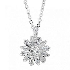 Alan Hannah Devoted - Designer cubic zirconia floral pendant necklace