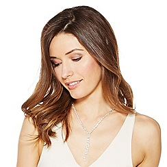 Jon Richard - Diamante crystal double y drop necklace