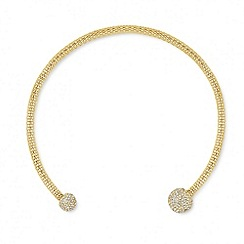 Jon Richard - Crystal ball and mesh collar necklace