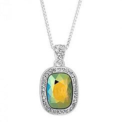 Jon Richard - Iridescent green crystal pendant necklace MADE WITH SWAROVSKI ELEMENTS