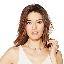 Jon Richard - Crystal embellished navette link necklace