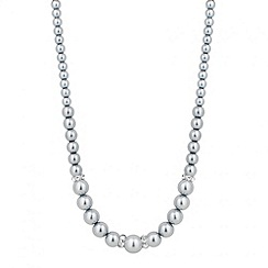Jon Richard - Graduated grey pearl and crystal rondel necklace