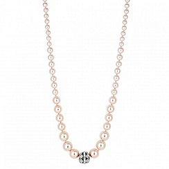 Jon Richard - Pink pearl and crystal ball necklace