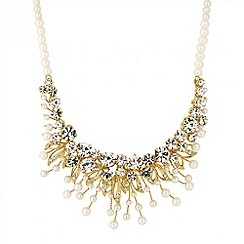 Jon Richard - Online exclusive pearl and crystal drop necklace