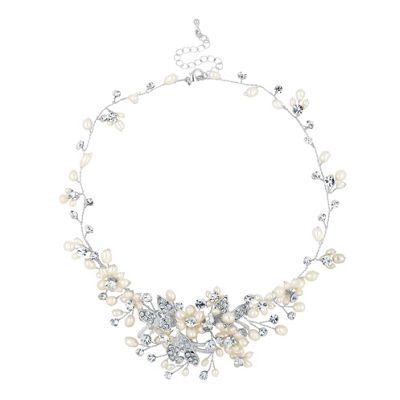 Alan Hannah Devoted Designer blossom freshwater pearl and pave necklace - . -