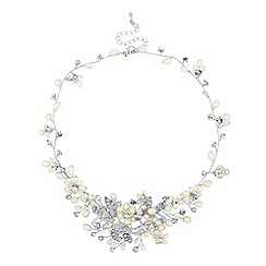 Alan Hannah Devoted - Designer blossom freshwater pearl and pave necklace